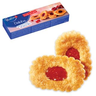 """BAHLSEN / Cookies """"Deloba"""" puff with red currants, 100 g, Germany"""