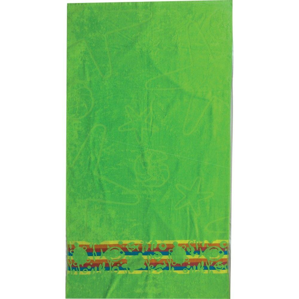 Towel beach green Textil