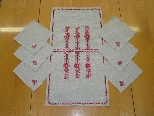 Set napkins 'Wreath of flowers' Karelian patterns