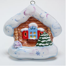 Winter hut (flat) - Christmas tree toy