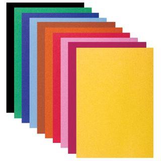 Cardboard color SMALL FORMAT, A5, VELVET, 10 sheets, 10 colors, 180 g/m2, BRAUBERG