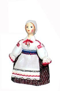 Doll gift. Estonian women's costume mid-19th century. Region: Vorumээ.