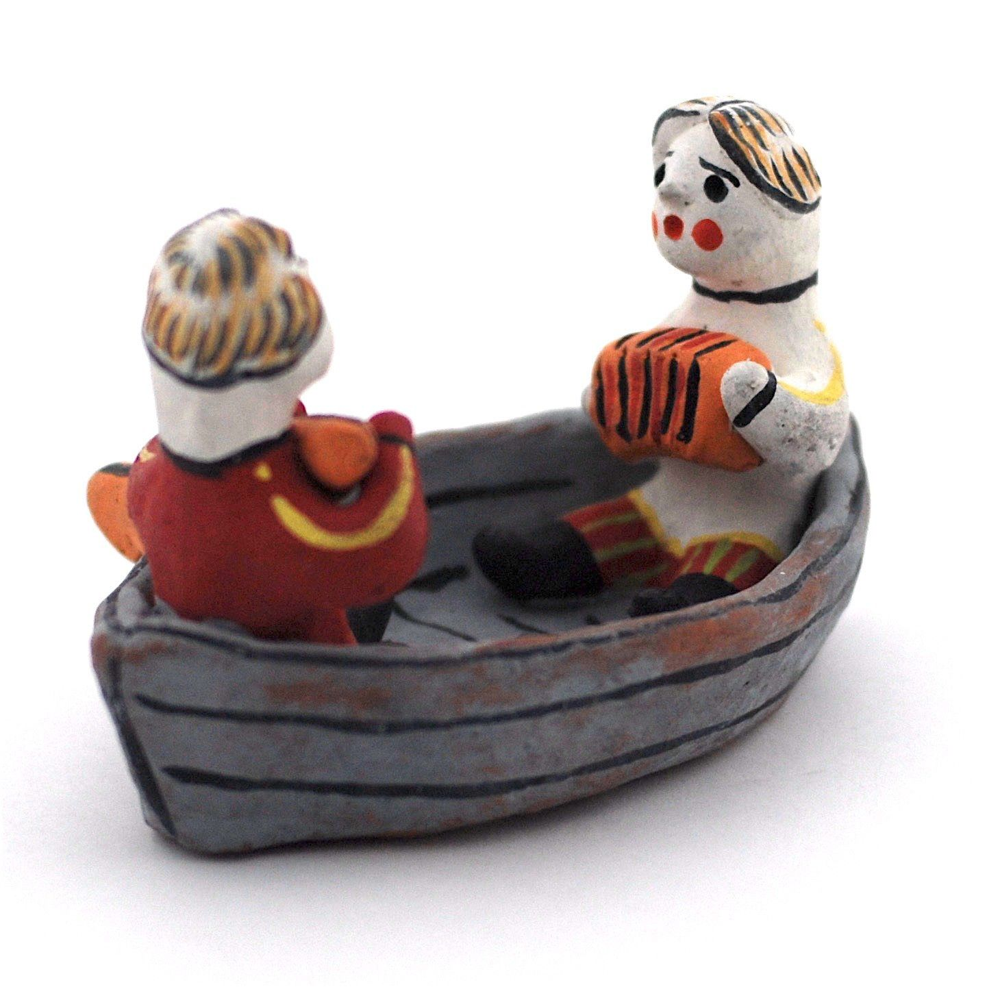Kargopol clay toy On the boat