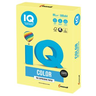Paper I's color, A4, 80 g/m2, 500 sheets, moderate-intensity, lemon-yellow