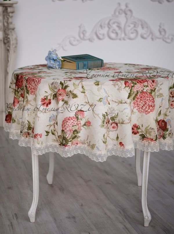 Tablecloth with lace Gloria