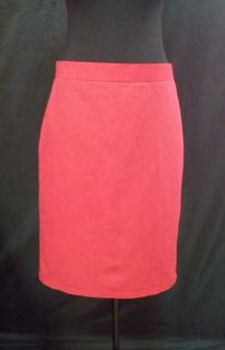 Women's coral color linen skirt