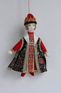 Prince Guidon. Russian traditional costume. Suspension