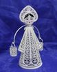 "Kazakovskaya Filigree / Souvenir ""Young lady with a rocker"" silvering - view 1"