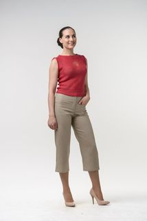 Women's clothing. TROUSERS - B032T (BEIGE) (RETAIL)