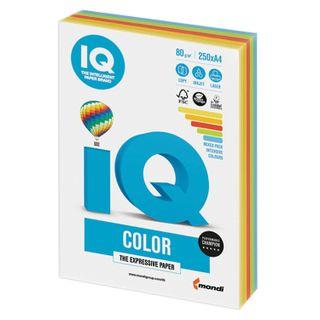 IQ COLOR / A4 paper, 80 g / m2, 250 sheets, (5 colors), color, intensive