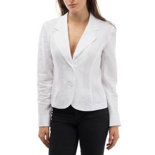 "Jacket women's ""Elegy"" white with silk embroidery"