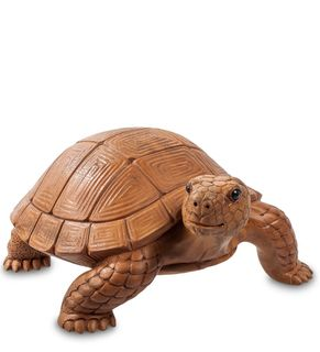 The statue wooden Turtle 27 cm