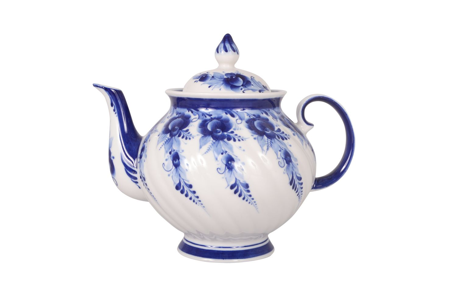 Dulevo Porcelain / Teapot 1200 ml Blue Rose