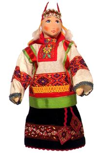 Doll pendant souvenir. Agatha. Textiles.