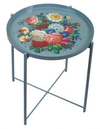 Zhostovo / Serving table with removable tray, author Danilova N. 45x53 cm