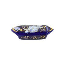 Christmas toy Candy cobalt paint gold, Gzhel Porcelain factory