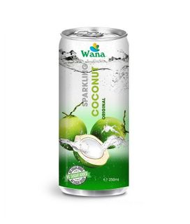 Coconut Juice With Lemon Flavor in 250ml Can