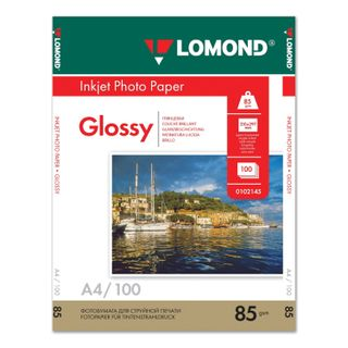 Photo paper for inkjet print, A4, 85 g/m2, 100 sheets, single-sided, glossy, LOMOND
