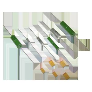 Capacitors oxide-semiconductor tantalum: K53-1A, K53-7, K53-65, K53-66, K53-68, K53-71, K53-72, K53-74.