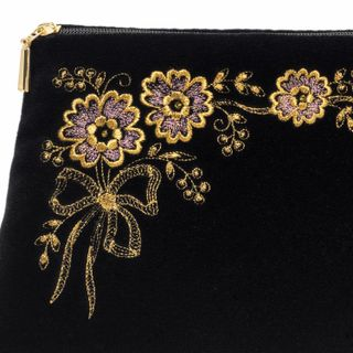 "Velvet cosmetic bag ""Chamomile"""