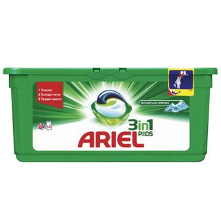 The remedy for washing in capsules 30 pieces of 28.8 g ARIEL (Ariel)