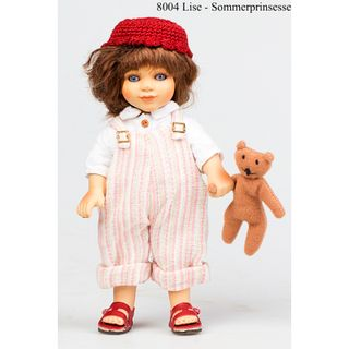 Birgitte Frigast / Porcelain doll Lise Princess of summer, 18 cm