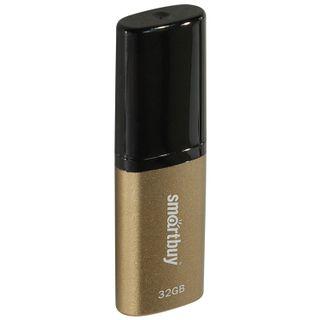 SMARTBUY / 32 GB Flash Drive, X-Cut USB 2.0, Metal Case, Brown / Black
