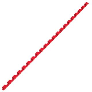 Plastic springs for binding, SET 100 pcs., 6 mm (for stitching 10-20 liters), red, BRAUBERG