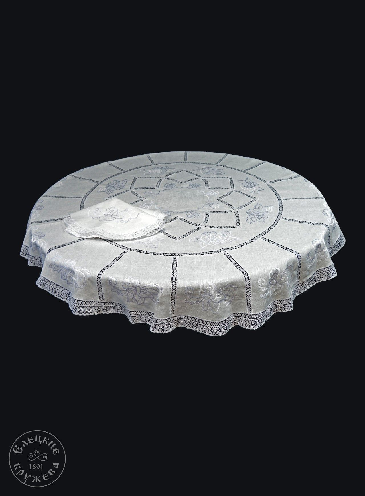 """Yelets lace / Table set """"Tablecloth and napkins"""" С2906"""