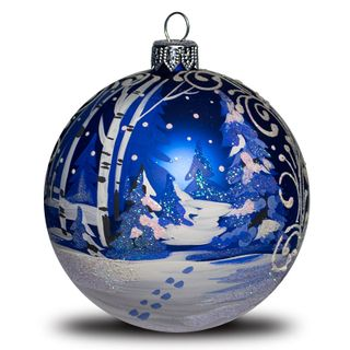 Christmas ball Winter forest