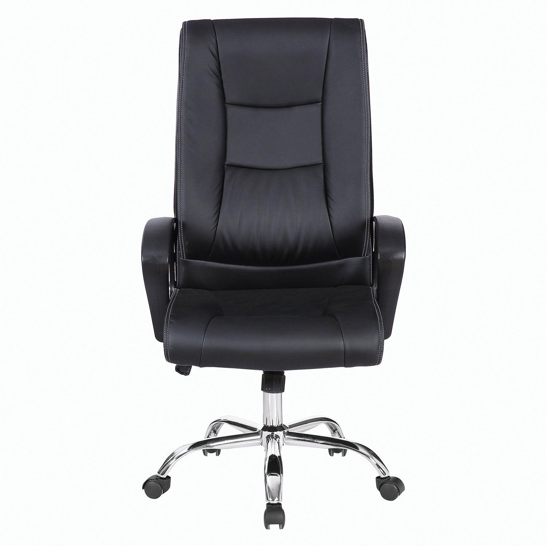 "Office chair BRABIX ""Forward EX-570"", chrome, eco-leather, black"