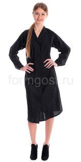 Bathrobe for women (TK. a calico), black