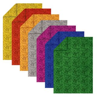 Colored foil BILATERAL TACTILE A4, 7 sheets 7 colors, FLOWERS TREASURE ISLAND