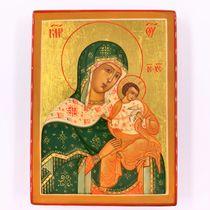 Icon Palekh mother of God Golubitskaya, 8*6 cm master Smirnov