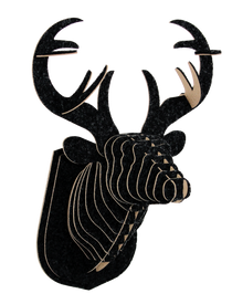 3D figure - Head of red deer KV Black