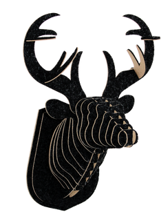 3D figure – Head of red deer KV Black