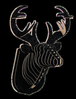 3D figure – Head of red deer KV Black