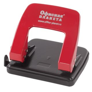 Hole punch metal OFFICE the PLANET, up to 20 sheets, red