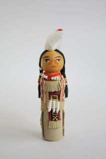 Doll gift. Indian in costume for the campaign. 20th century. USA
