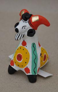 Whistle Dymkovo clay Goat