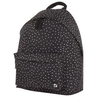 Backpack BRAUBERG, universal, city-format, black polka dot, 20 liters, 41х32х14 cm