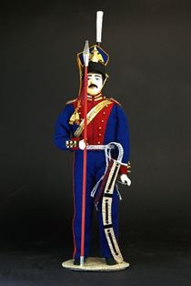 Doll gift porcelain. Russia. Ulan. The military uniform. 19th century.