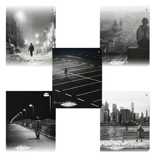 """Notebook A5 48 sheets ALT staple, cage, Soft Touch, foil, paper 70 g / m2, """"CITY OF ANGELS"""""""