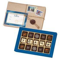 Chocolates chocolate telegram 'good Luck!'