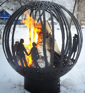 Love is ... metal outdoor campfire site - laser cut