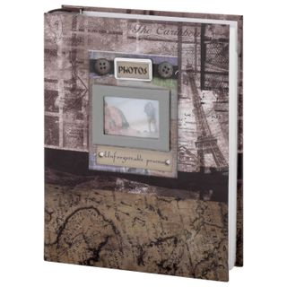 BRAUBERG photo album for 200 photos 10x15 cm, hard cover,