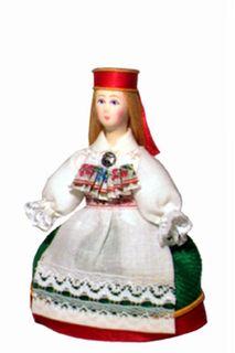 Doll gift. Estonian women's costume ser. 19th century. Region: Laane-Virumaa.