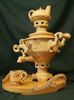 """Tea set with a samovar """"Milovan"""", capacity 5 liters"""