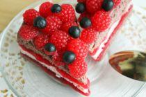 Soap cake sponge Cake with Raspberries