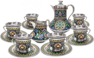 "Coffee service ""Muse of the Summer Garden"" for 6 persons"